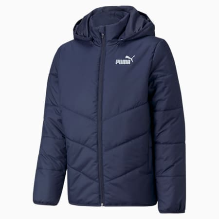 Essentials Padded HD Youth Jacket, Peacoat, small-GBR