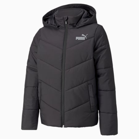 Essentials Gefütterte HD Jugend Jacke, Puma Black, small