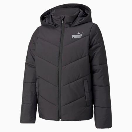 Essentials Padded HD Youth Jacket, Puma Black, small-GBR