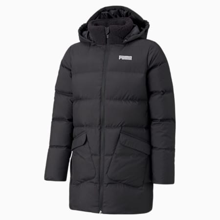 Long Down Youth Jacket, Puma Black, small-GBR