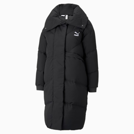 Classics Long Down Women's Jacket, Puma Black, small