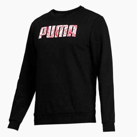 PUMA Graphic Crew Men's Sweat Shirt, Puma Black, small-IND
