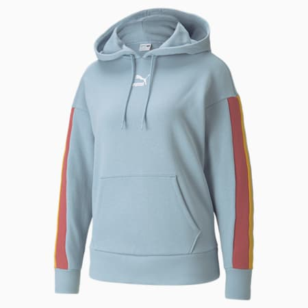 Sudadera con capucha para mujer CLSX, Blue Fog-BHeights, small