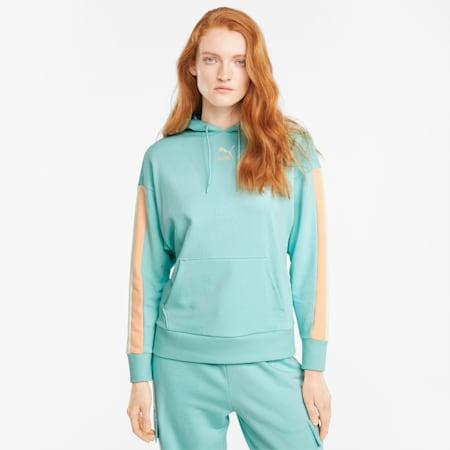 Sudadera con capucha CLSX para mujer, Eggshell Blue-Gloaming, pequeño