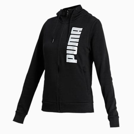 PUMA Hooded Women's Sweat Jacket, Puma Black, small-IND