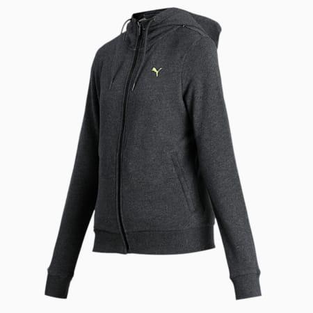 PUMA Women's Hooded Sweat Jacket, Dark Gray Heather, small-IND