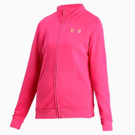 PUMA Women's Sweat Jacket, Beetroot Purple, small-IND