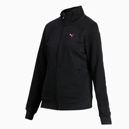 PUMA Women's Sweat Jacket, Puma Black, small-IND