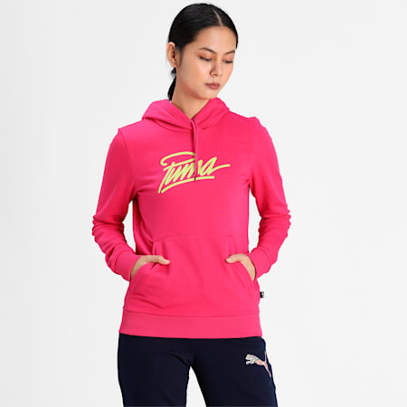 PUMA Graphic Women's Hoodie, Beetroot Purple, small-IND