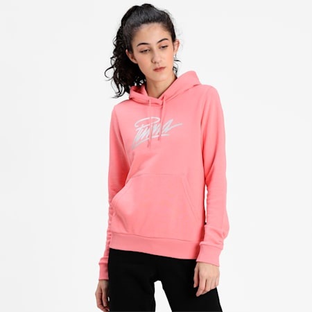 PUMA Graphic Women's Hoodie, Salmon Rose, small-IND