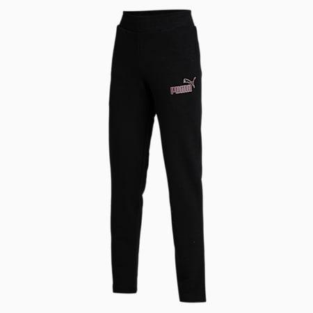 Women's OP 3 Sweat Pants, Puma Black, small-IND