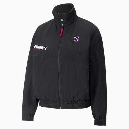 PUMA International Women's Track Jacket, Puma Black, small
