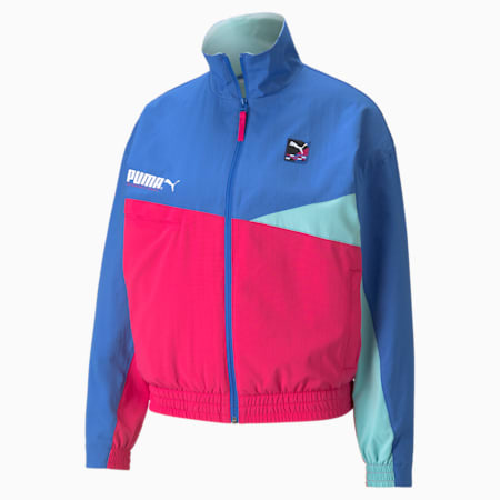 PUMA International Women's Track Jacket, Nebulas Blue, small