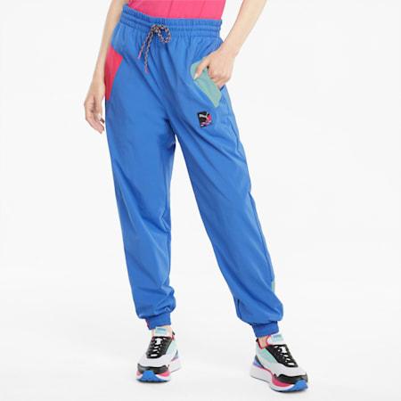 Pantalones de deporte para mujer PUMA International, Nebulas Blue, small