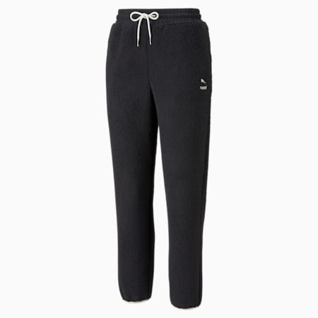 Pantalones CLSX Sherpa para mujer, Puma Black, pequeño
