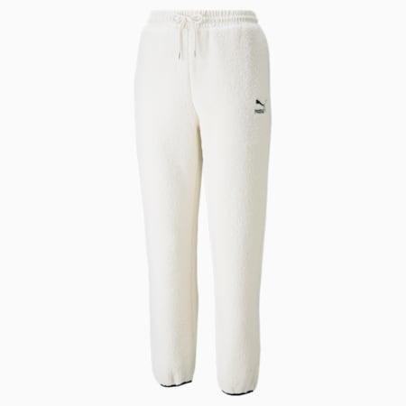 Pantalones CLSX Sherpa para mujer, Ivory Glow, pequeño