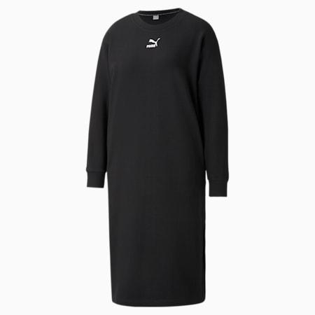 Vestido cuello redondo Classics para mujer, Puma Black, pequeño