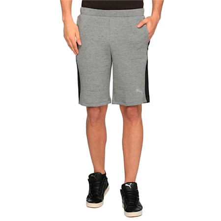 Active Active Men's Evostripe SpaceKnit Shorts, Medium Gray Heather, small-IND