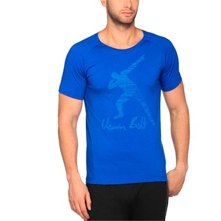 Usain Bolt Men's Legend T-Shirt, TRUE BLUE, small-IND