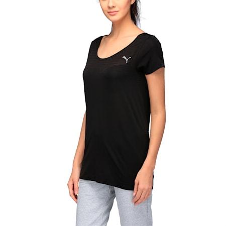 Active Women's evoKNIT T-Shirt, Puma Black, small-IND