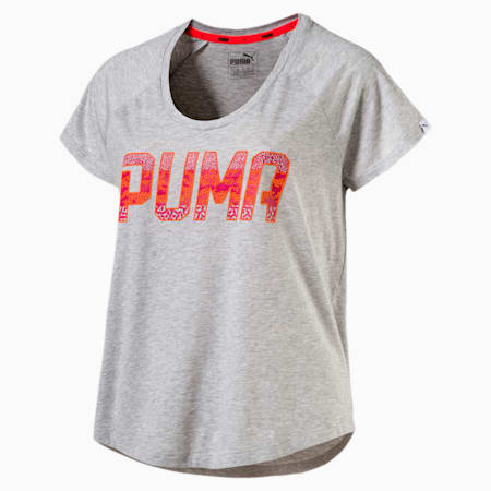 Women's Athletic Fashion T-Shirt, Light Gray Heather, small-SEA