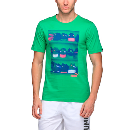 Men's Sneaker Photo T-Shirt, Bright Green, small-IND