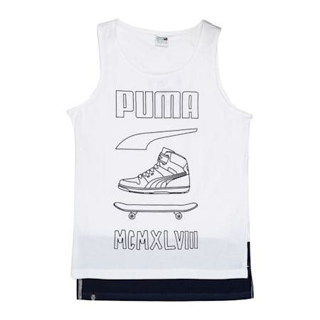 Boys' Sportstyle Tank Top, Puma White, small-IND