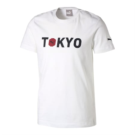 シティー ユニセックス 半袖 Tシャツ TOKYO 東京, white, small-JPN