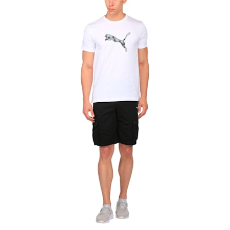 Woven Cargo Shorts, Cotton Black, small-IND