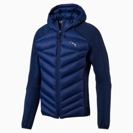 Double Knit Hybrid 600 Down Men's Jacket, Blue Heather-Blue Depths, small-IND