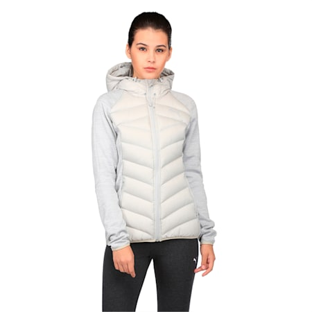 Women's PWRWARM Hybrid DoubleKnit Down Jacket, Gray Violet-LGH, small-IND