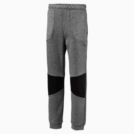 Boys' Running and Training Tech Pants, Medium Gray Heather, small-IND
