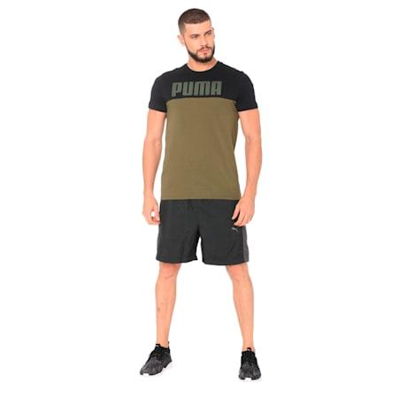 Men's Rebel Block T-Shirt, Olive Night, small-IND