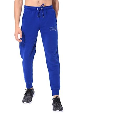 Men's Athletics Fleece Sweatpants, Blue Depths, small-IND