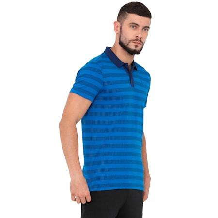 Men's Sports Stripe Piqué Polo, Blue Depths-Lapis Blue, small-IND
