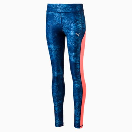 Training AOP Tights, -Blue Depth, small-IND