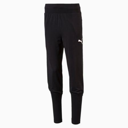 Girls' Softsport Jersey Pants, Puma Black, small-IND