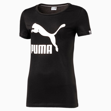 Girl's Classic Logo T-Shirt, Cotton Black, small-IND