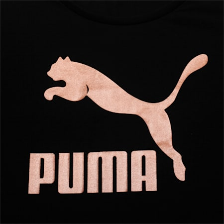 Girls' Evo Graphic T-Shirt, Puma Black, small-IND