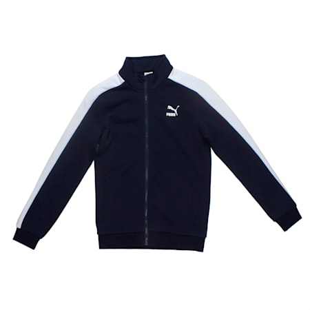Boys' Classic T7 Track Jacket, Peacoat, small-IND