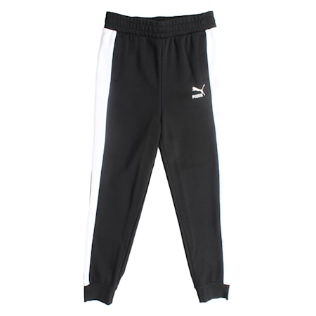 Boys' Classic T7 Track Pants, Cotton Black, small-IND