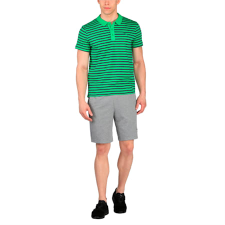 ESS Striped Jersey Polo, bright green-D G H, small-IND
