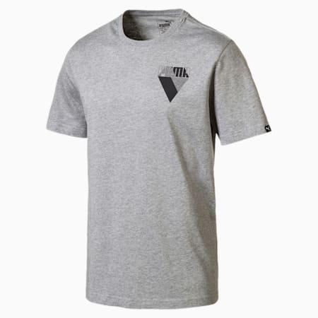 Graphic Brand Herren T-Shirt, Medium Gray Heather, small