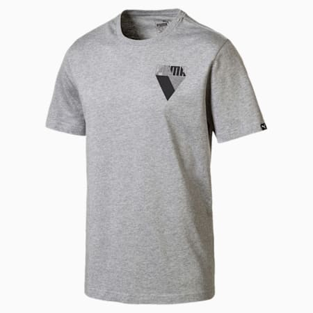 T-Shirt Graphic Brand pour homme, Medium Gray Heather, small