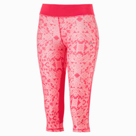 Training Girls' AOP 3/4 Leggings, Paradise Pink-AOP, small-IND