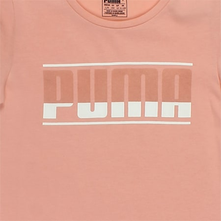 Girls' Style Graphic Tee, Peach Beige, small-IND