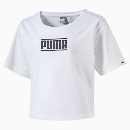 Girls' Style Tee, Puma White, small-IND