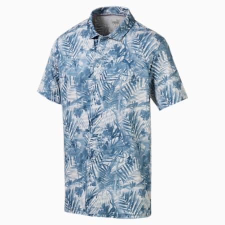 PUMA Men's Fronds Polo Shirt, Gibraltar Sea, small-SEA