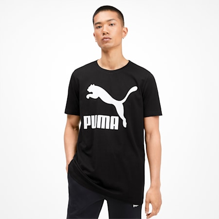 Classics Logo Men's Tee, Puma Black, small-SEA