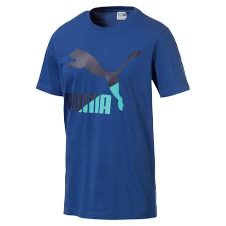 Classics Logo Men's Crew Neck T-Shirt, Galaxy Blue, small-IND